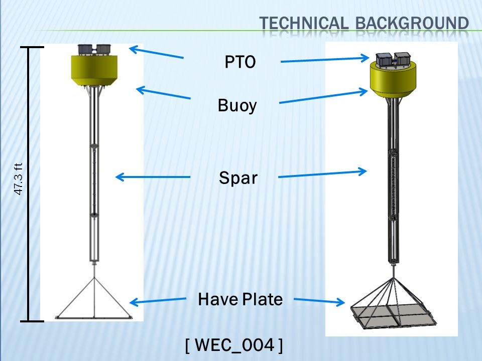 PTO Buoy Spar Have Plate [ WEC_004 ]